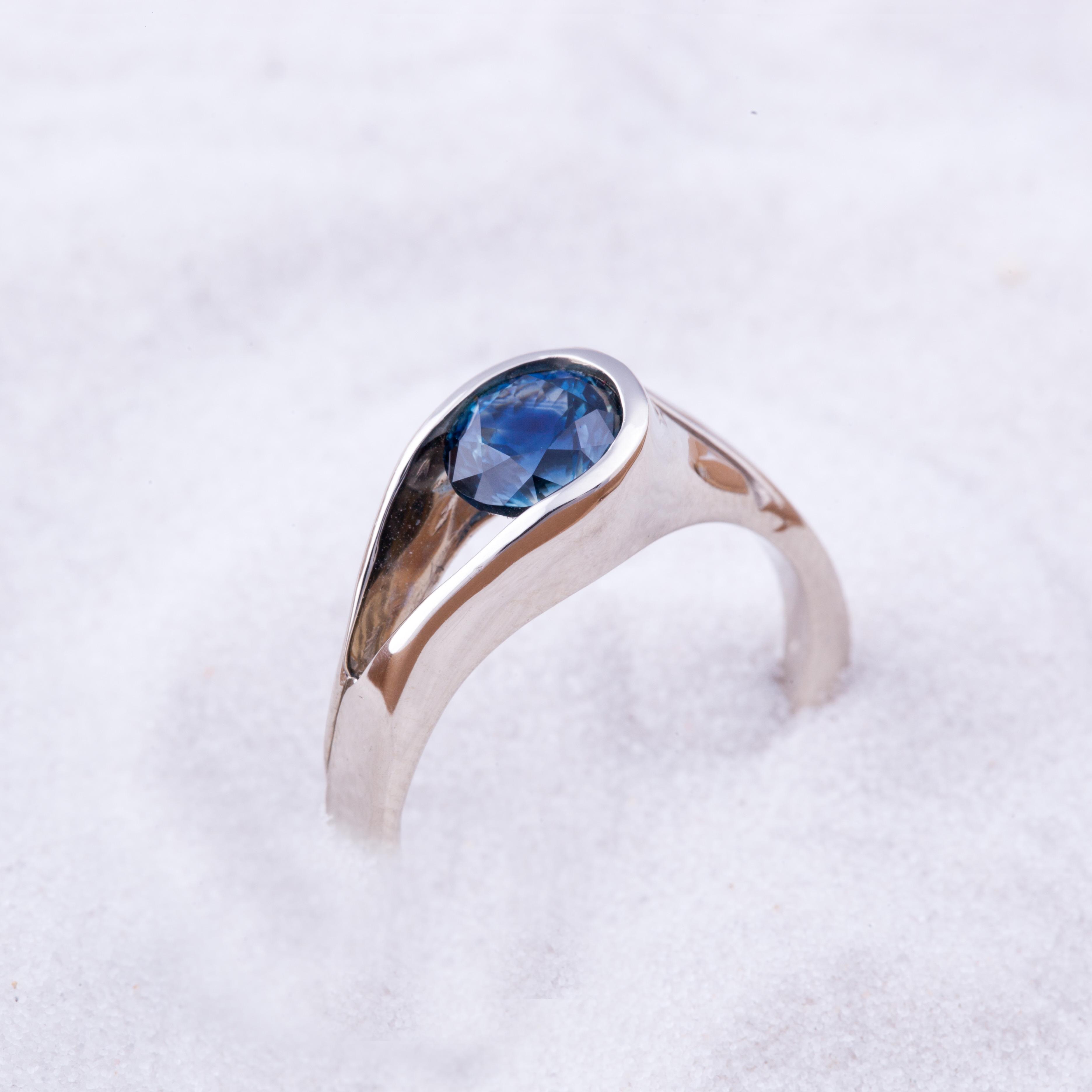 Blue Sapphire Ladies Ring | Sapphire Gallery | Philipsburg Montana ...